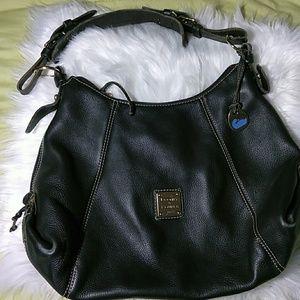 Dooney & Bourke Black Pebbled Leather Large Tote S